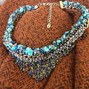 Colorful Zara bead+stone choker.